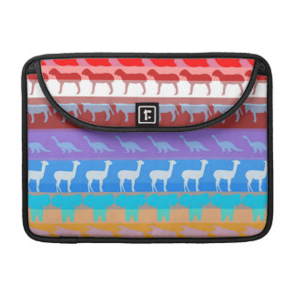 Retro Colorful Animals Modern Stripes Pattern #2 MacBook Pro Sleeve