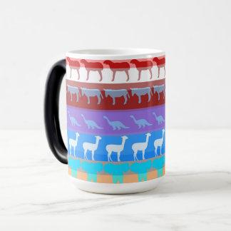 Retro Colorful Animals Modern Stripes Pattern #2 Magic Mug