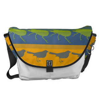 Retro Colorful Animals Modern Stripes Pattern #2 Messenger Bag