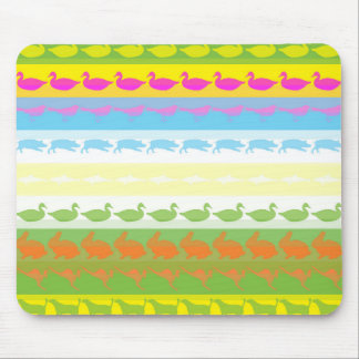 Retro Colorful Animals Modern Stripes Pattern #6 Mouse Pad