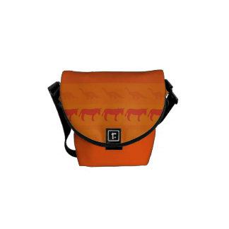 Retro Colorful Animals Modern Stripes Pattern #9 Messenger Bag