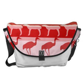 Retro Colorful Animals Modern Stripes Pattern Messenger Bag