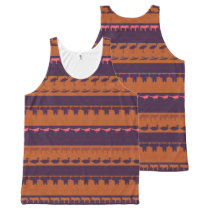 Retro Colorful Animals Pattern #2 All-Over-Print Tank Top