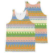 Retro Colorful Animals Pattern #3 All-Over-Print Tank Top