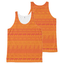 Retro Colorful Animals Pattern #9 All-Over-Print Tank Top
