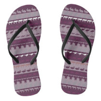 Retro Colorful Animals Pattern Flip Flops