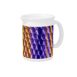 Retro colorful art graphic design beverage pitcher