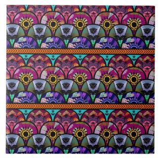 Retro Colorful Beautiful Boho Bohemian Ceramic Tile