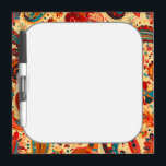"Retro Colorful Beautiful Boho Bohemian Paisley Dry-Erase Board<br><div class=""desc"">This is an awesome colorful design that makes the perfect gift for any occasion.</div>"