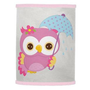 Owl lamp shades zazzle retro colorful beautiful spring owl lamp shade aloadofball Choice Image