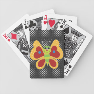 Retro Colorful Butterfly Playing Cards