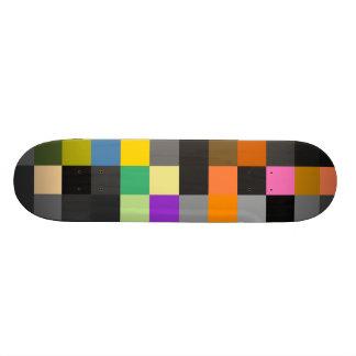 Retro Colorful Checkerboard Skateboard