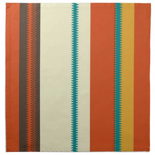Retro Colorful Chevron Striped Pattern Party Printed Napkin