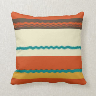 Retro Colorful Chevron Striped Pattern Pillow