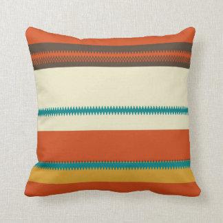 Retro Colorful Chevron Striped Pattern Throw Pillow