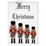 Retro Colorful Christmas Nutcracker Greeting Card