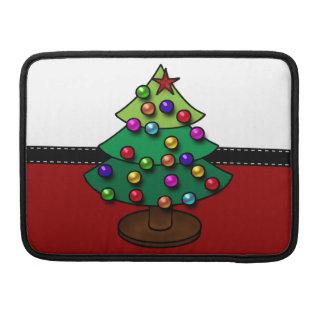 Retro Colorful Christmas Tree MacBook Pro Sleeve