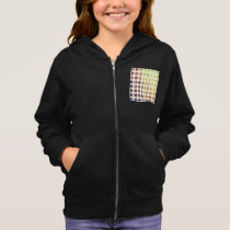 Retro Colorful Circles Girls Hoodie