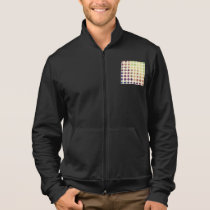 Retro Colorful Circles Mens Jacket