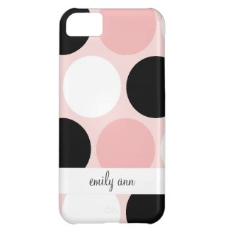 Retro Colorful Circles Pattern iPhone 5C Cover
