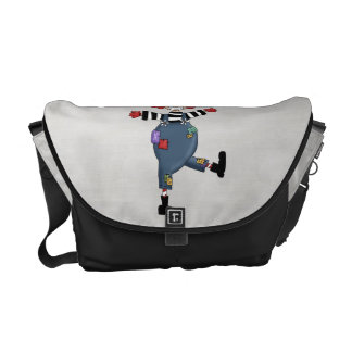 Retro Colorful Circus Clown Courier Bag