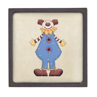 Retro Colorful Circus Clown Premium Keepsake Boxes