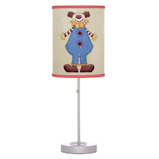 Retro Colorful Circus Clown Table Lamp