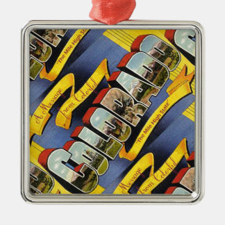 Retro Colorful Colorado Metal Ornament