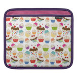 Retro Colorful Cupcake Pattern iPad Sleeves