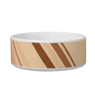 Retro Colorful Diagonal Stripes Pet Bowl