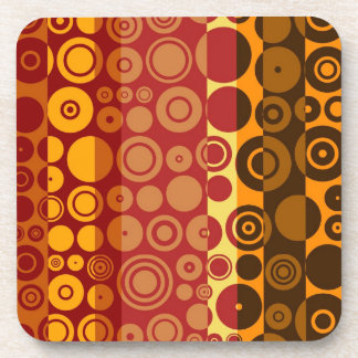 Retro Colorful Fifties Abstract Art 2 Drink Coaster