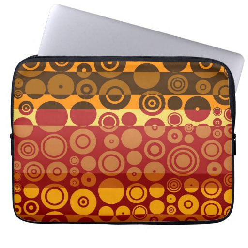 Retro Colorful Fifties Abstract Art 2 Laptop Sleeve