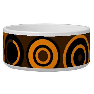 Retro Colorful Fifties Abstract Art 2 Dog Water Bowl