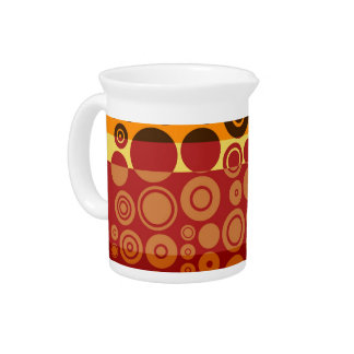 Retro Colorful Fifties Abstract Art 2 Pitcher
