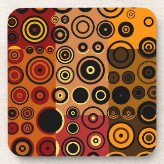 Retro Colorful Fifties Abstract Art 3 Coaster