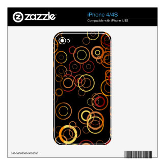 Retro Colorful Fifties Abstract Art 3 Decals For The iPhone 4S