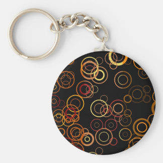 Retro Colorful Fifties Abstract Art 3 Keychain