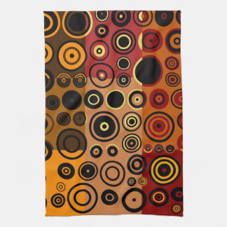 Retro Colorful Fifties Abstract Art 3 Kitchen Towel