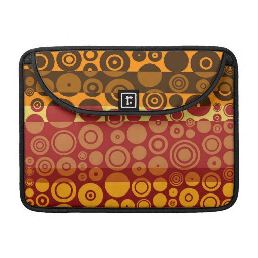 Retro Colorful Fifties Abstract Art 3 Sleeve For MacBook Pro
