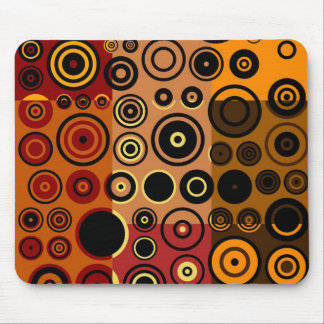 Retro Colorful Fifties Abstract Art 3 Mouse Pad