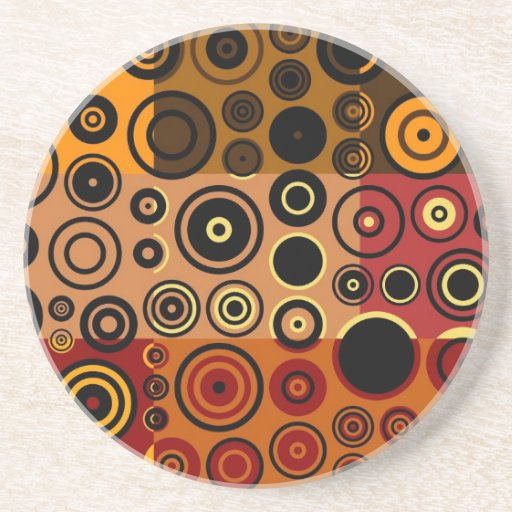 Retro Colorful Fifties Abstract Art Beverage Coasters