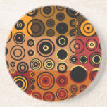 Retro Colorful Fifties Abstract Art Drink Coaster