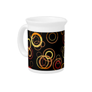 Retro Colorful Fifties Abstract Art Drink Pitcher