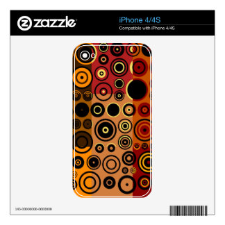 Retro Colorful Fifties Abstract Art iPhone 4 Skin