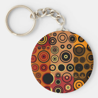 Retro Colorful Fifties Abstract Art Keychain