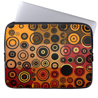 Retro Colorful Fifties Abstract Art Laptop Sleeve