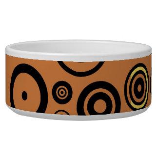 Retro Colorful Fifties Abstract Art Dog Bowls