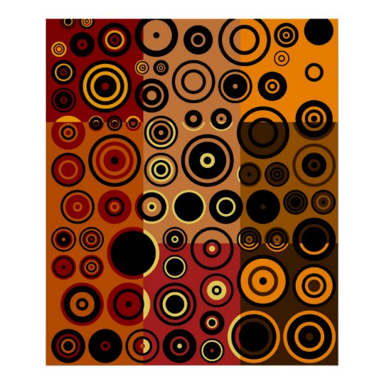 Retro Colorful Fifties Abstract Art Poster