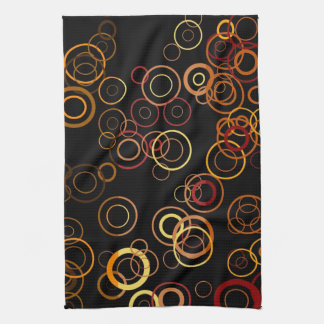 Retro Colorful Fifties Abstract Art Towel