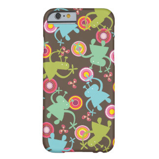 Retro Colorful Fun Cute Boy Cartoon Aliens Casing Barely There iPhone 6 Case